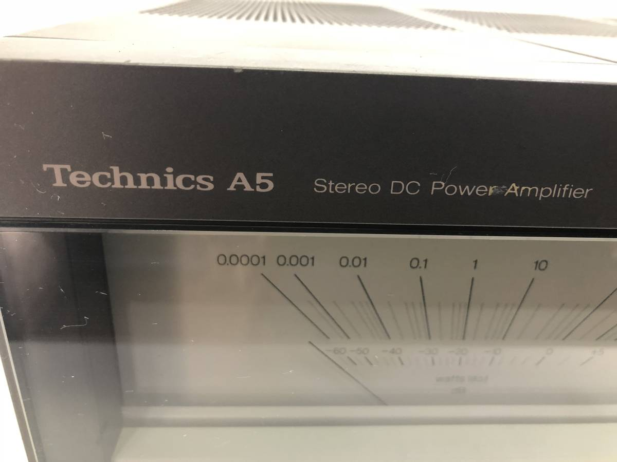 Technics テクニクス SE-A5 ステレオパワーアンプ [120W+120W(8Ω)/ジャンク]_画像4