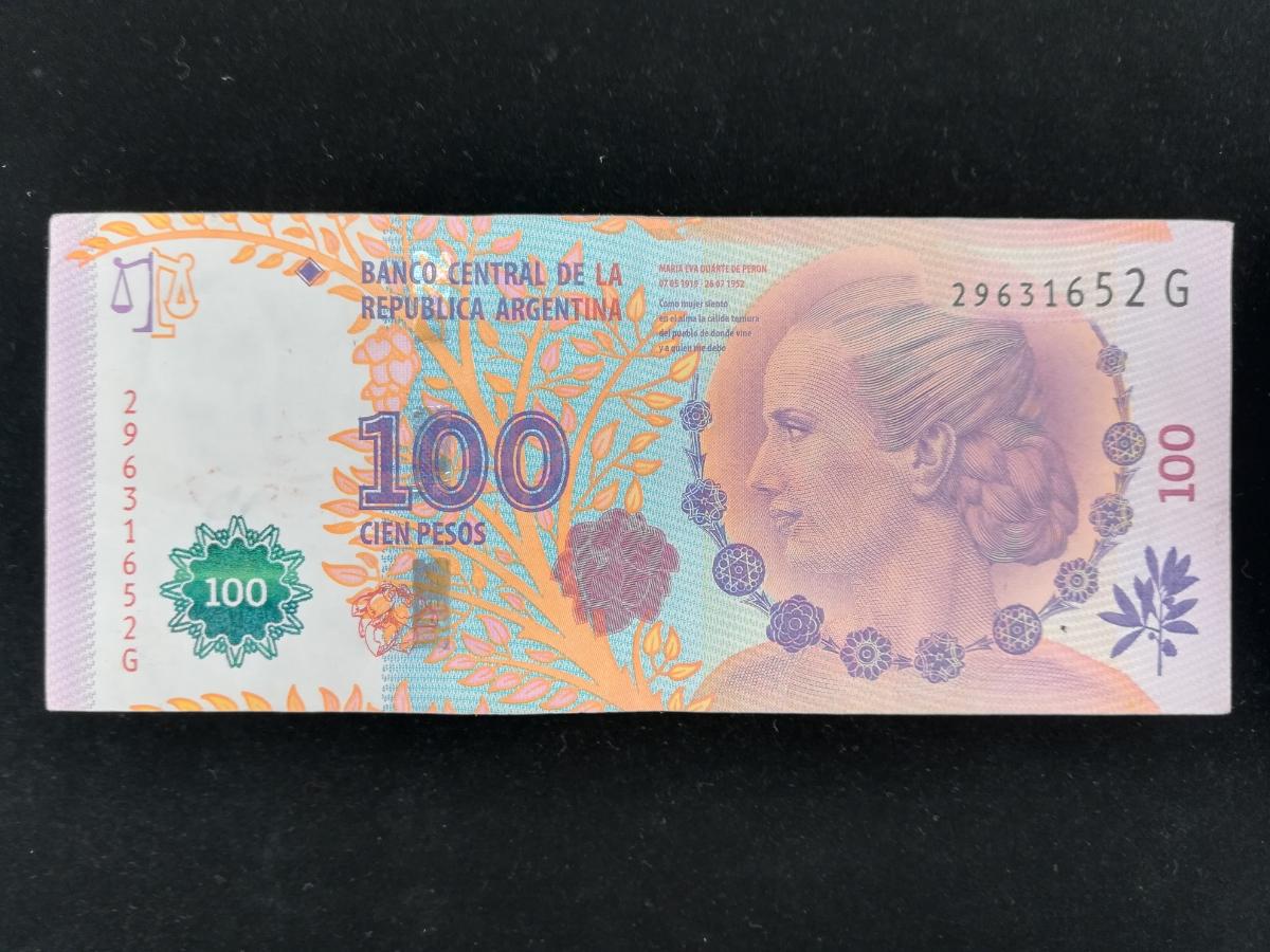 アルゼンチン 100ペソ紙幣 管理209