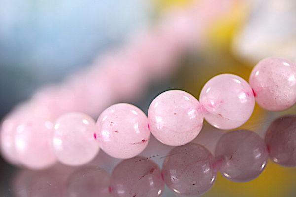 【送料無料】ローズ クォーツ《珠径8mm内径16cm》薔薇水晶 10月誕生石 パワーストーン天然石ブレスレット 恋愛運開運 浄化 激安5779_画像3