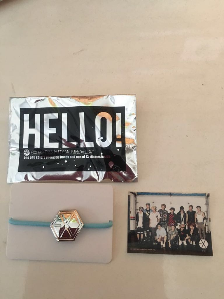 EXO Hair Blue Blue & Rare All Stickers Official Collectibles Unused ★ Only for prompt decision ★ Chris · Luhan · Tao