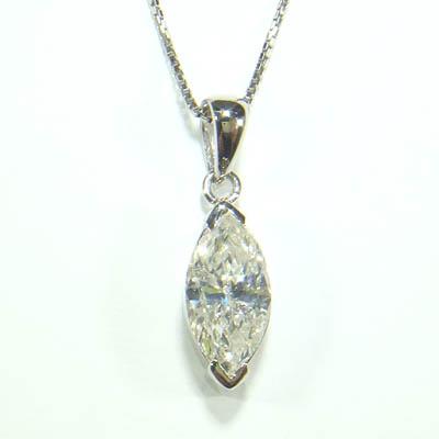 中央宝石研究所鑑定付き 2.103ct  Pt900 プラチナ プチ ペンダント&ネックレス マーキース ダイヤモンド