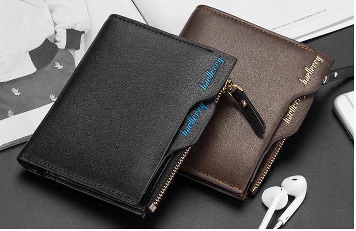 財布 二つ折り財布 コンパクト メンズ お札入れ 小銭入れ カードケース フォトフレーム付き ウォレット 茶色 ブラウン_画像5