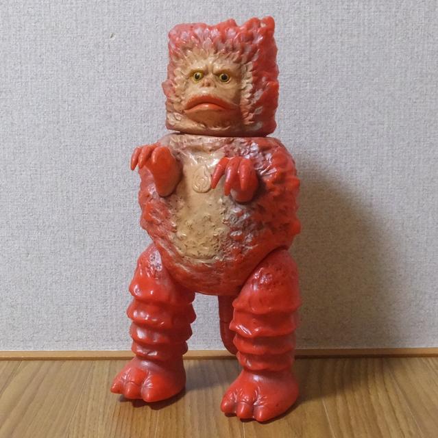 隕石怪獣 ガラモン 赤 マルサン ウルトラQ ソフビ 昭和41年頃当時物 激レア 希少品 自立可能