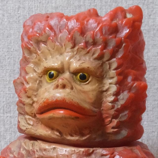 隕石怪獣 ガラモン 赤 マルサン ウルトラQ ソフビ 昭和41年頃当時物 激レア 希少品 自立可能_画像2