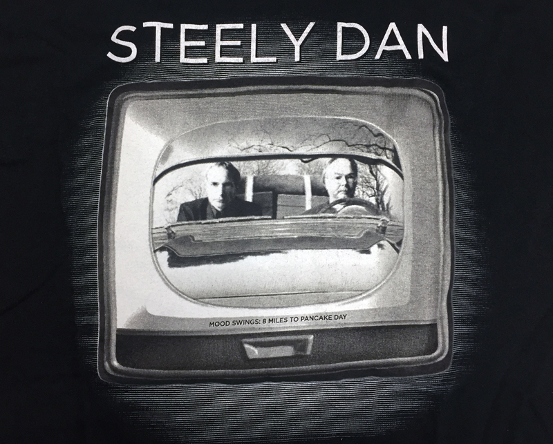 ★NY, Beacon Theatreで購入/Steely Dan全米コンサート・ツアーTシャツ 2013/ビニル・バッグ付き