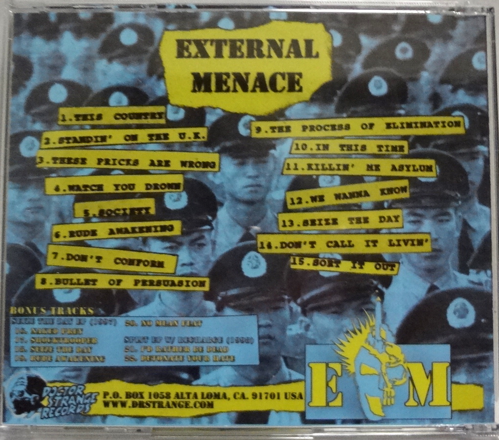 External Menace The Process Of Elimination (1998) 編集盤CD Dr. Strange Records UK82/Discharge/The Exploited/Blitz/The Partisans_画像2