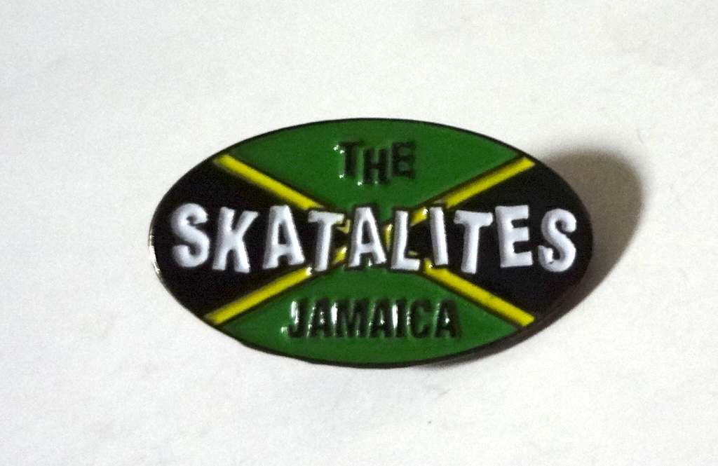 The Skatalites Jamaica ロゴ メタルピンバッジ The Studio One,Tommy McCook,Johnny Moore,Lester Sterling,Jackie Mittoo,Don Drummond