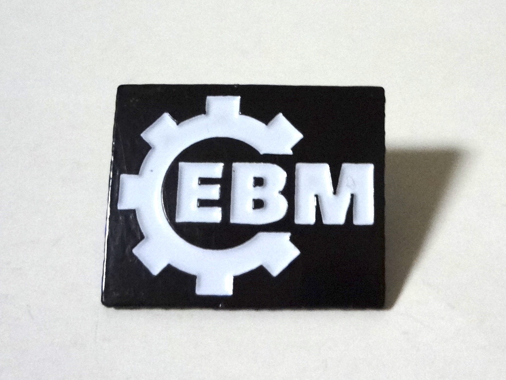 EBM Electronic Body Music ロゴ メタルピンバッジ Kraftwerk,DAF,Front 242,Nitzer Ebb,A Split - Second,Borghesia,Prodigy,The Klinik