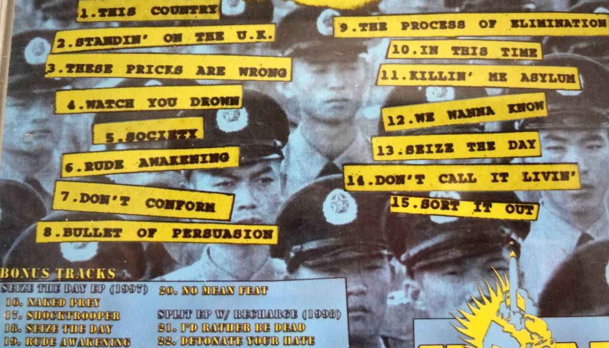 External Menace The Process Of Elimination (1998) 編集盤CD Dr. Strange Records UK82/Discharge/The Exploited/Blitz/The Partisans_画像3