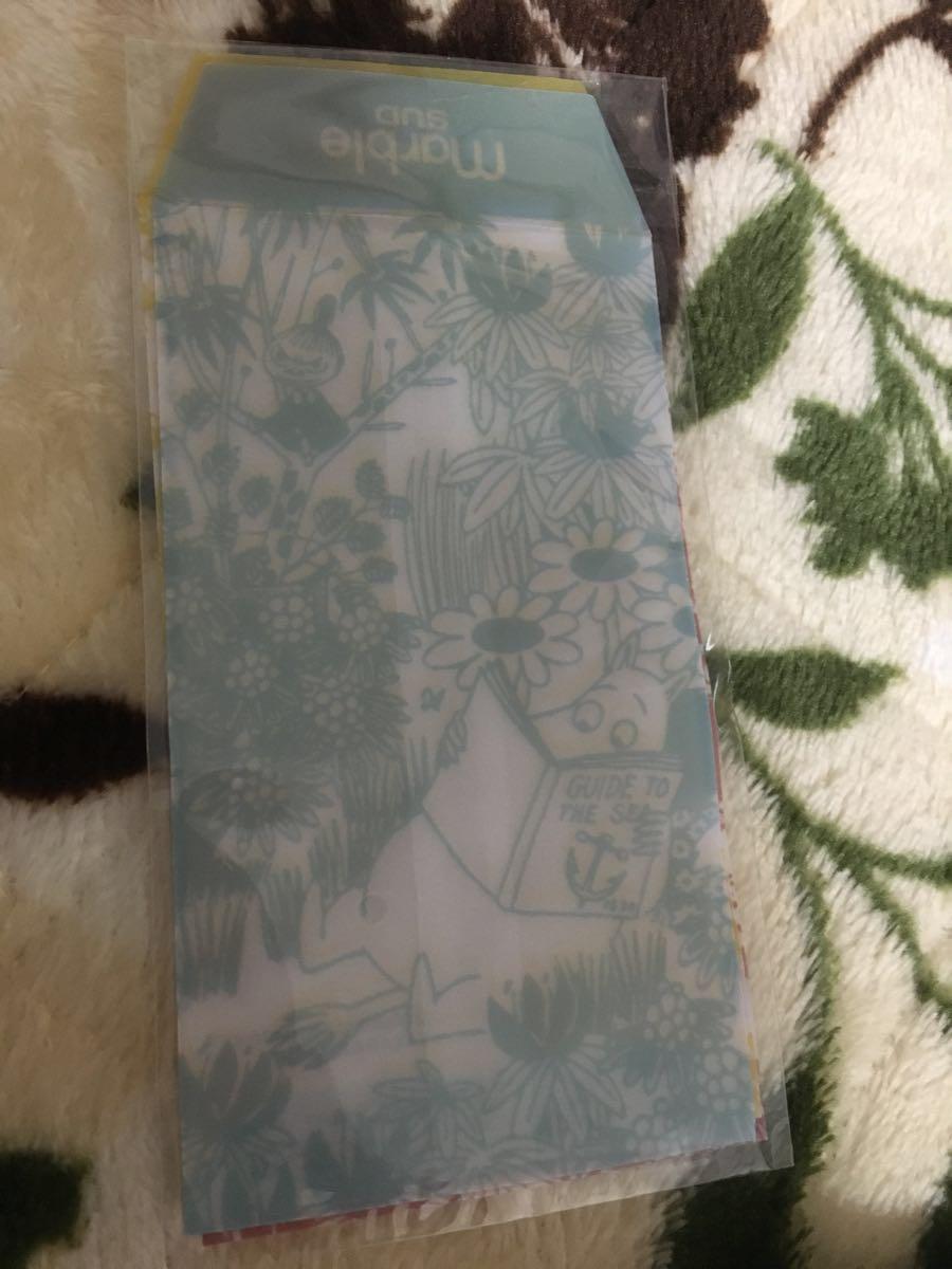 ☆ムーミン×マーブルシュッド☆カラフルポーチ2点 &ミニ封筒3点・リンネル12月号付録_画像3