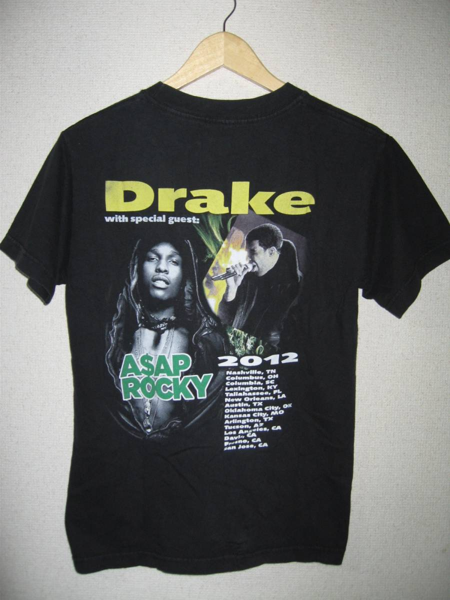 DRAKE with special guest ASAP ROCKY 2012 TOUR Tシャツ ドレイク RAP TEE