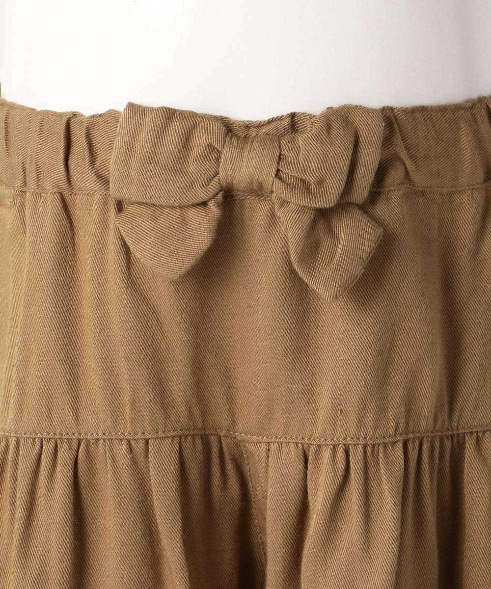 新品 ¥3229 組曲 anyFAM 110cm スカート風 ショートパンツ キュロットスカート 子供用 女の子 ブラウン 茶色 キュロットパンツ 双子 ペア_画像3