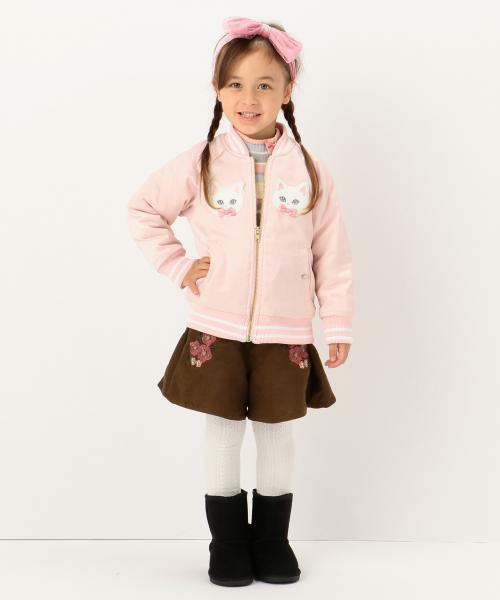 新品 ¥3229 組曲 anyFAM 150cm フェイク スウェード スカート風 ショートパンツ 子供用 女の子 ブラウン 茶色 キュロットパンツ_参考画像