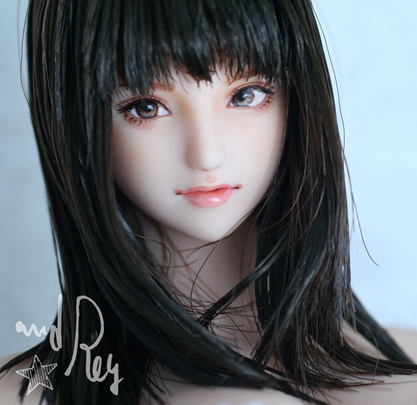 ★and Rey★1/6カスタムドールヘッド「真里奈」_画像2