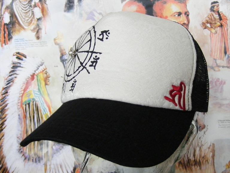新品  帽子 梵字メッシュキャップ  千手観世音菩薩 子  野球帽 男女兼用  CAP #2 釣り登山_画像1
