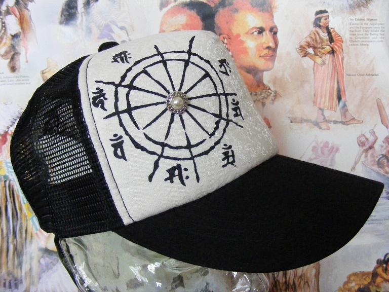 新品  帽子 梵字メッシュキャップ  千手観世音菩薩 子  野球帽 男女兼用  CAP #2 釣り登山_画像3