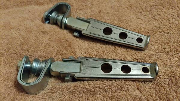 当時物 キジマ ハイウェイペグ JAPAN 刻印入り Z1 Z2 FX FT KH SS MACH CB CBX GS GSX GT RD XJ RZ RG (検 デイトナ BEET JMC