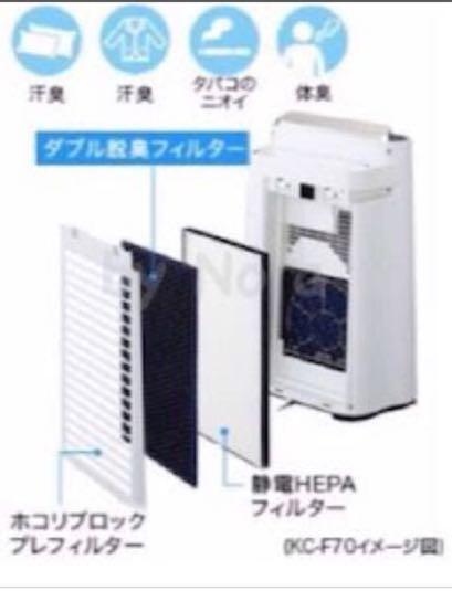 【新品】SHARP プラズマクラスター KC-F70 空気清浄機_画像3