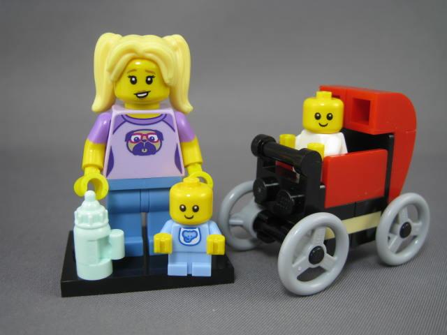 ベビーシッター 赤ちゃんとベビーカー 10255 71013 コレクタブル・ミニフィギュア にぎやかな街角 哺乳瓶 レゴ LEGO