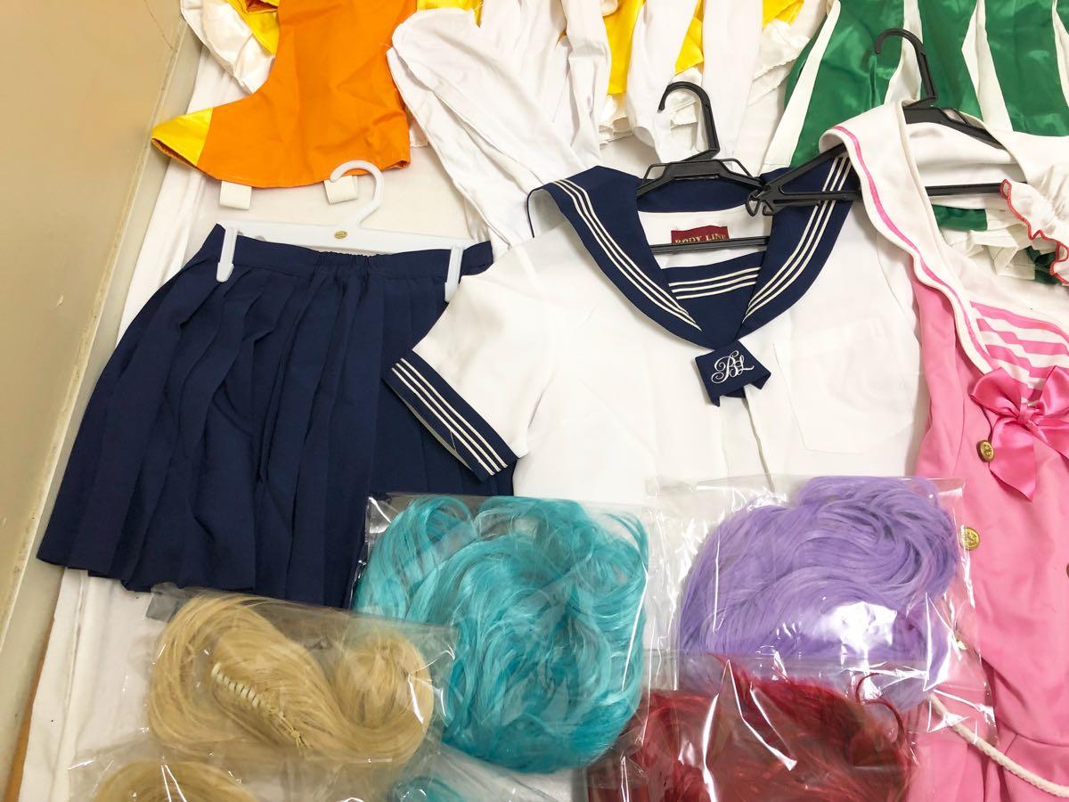 コスプレ 衣装 大量まとめて セット セーラームーン アニメ プリキュア? メイド ウィッグ anime_画像7