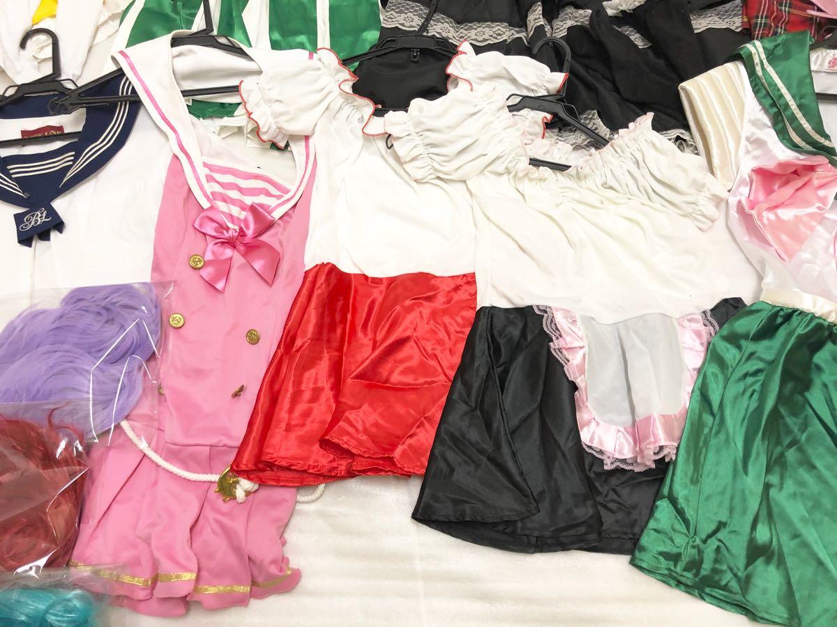 コスプレ 衣装 大量まとめて セット セーラームーン アニメ プリキュア? メイド ウィッグ anime_画像6