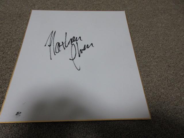 フィギュアスケート ネイサン・チェン選手直筆サイン色紙