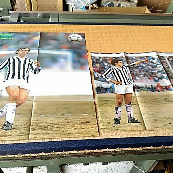 二枚 サッカー雑誌付録ポスター ミシェル・プラティニ フランス代表 ユベントス トヨタカップ85