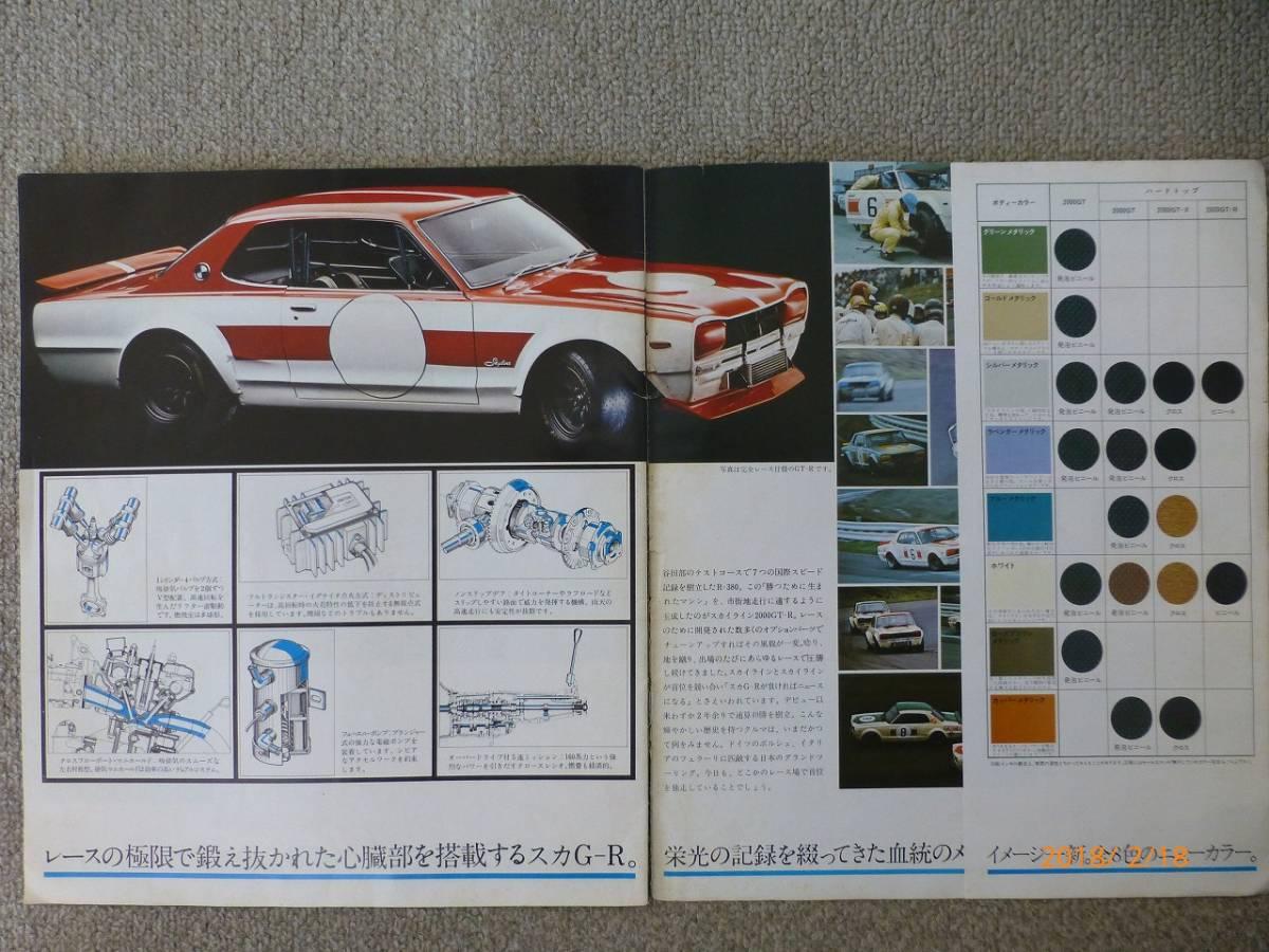 【ハコスカ GT-Rも掲載】 NISSAN SKYLINE 2000GT カタログ_画像2