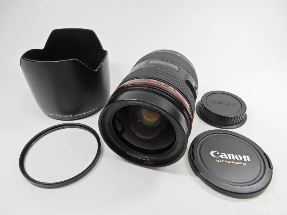 Canon EF 28-70mm 1:2.8 L ULTRASONIC キャノン 一眼レフカメラ オート用レンズ 付属品有り