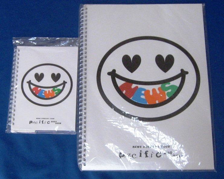 NEWS ツアー 2007-2008 Pacific パンフレット&ノート ブック 山下 手越 増田新品未開封品