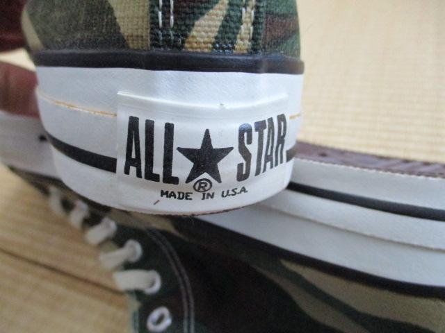デッドストック オールスター 新品 CONVERSEコンバース USA製 ALL STAR スニーカー迷彩 28cm US9.5 カモフラージュ ハイカット アメリカ製_画像3