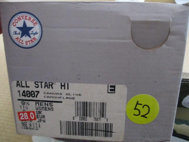 デッドストック オールスター 新品 CONVERSEコンバース USA製 ALL STAR スニーカー迷彩 28cm US9.5 カモフラージュ ハイカット アメリカ製_画像4