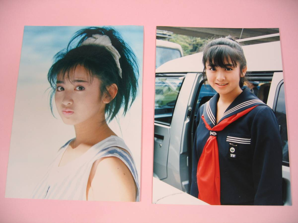 斉藤由貴 スケバン刑事 AXIA 当時物 貴重品 写真2枚セット