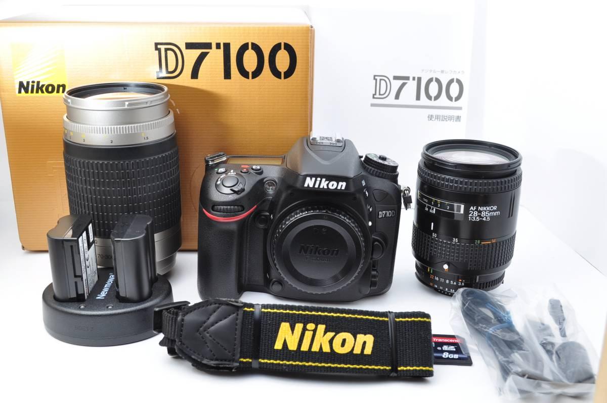 ★新品級★ Nikon ニコン D7100 超望遠 ダブルレンズセット 元箱付 &SDカード付き