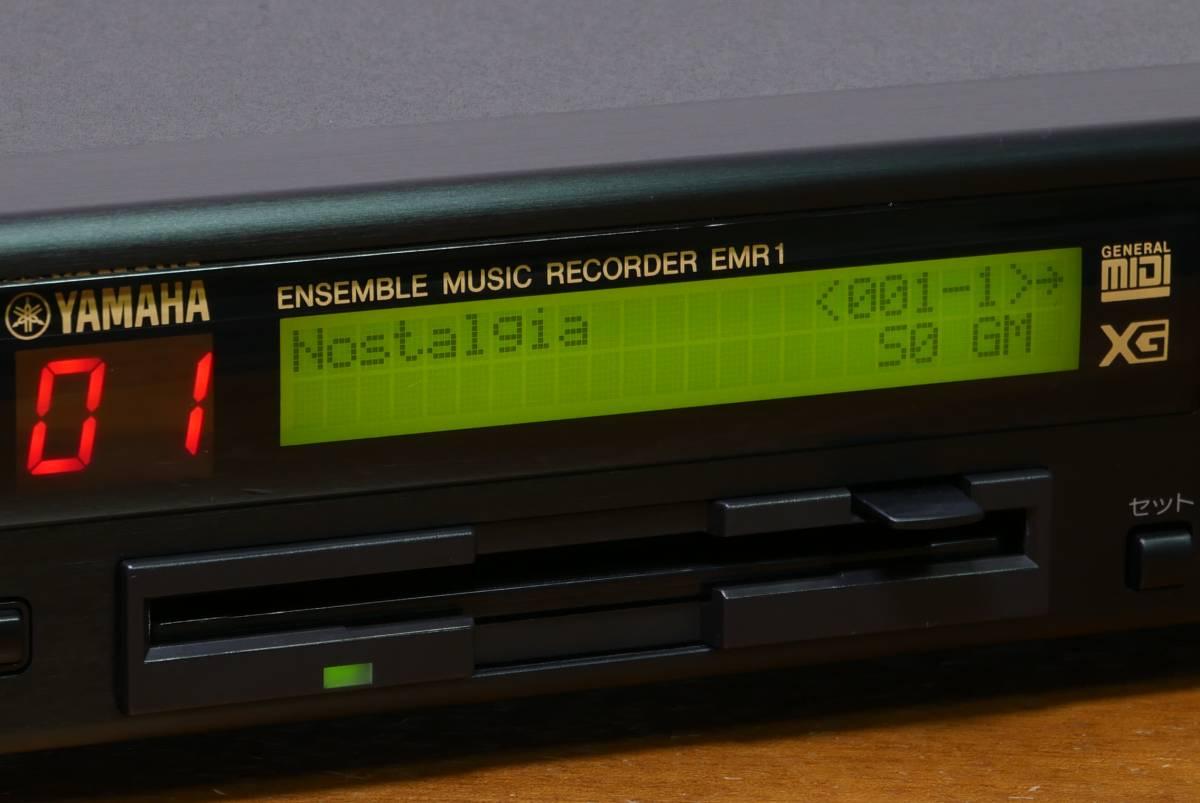 YAMAHA EMR1 XG/GM sound source built-in ensemble music recorder