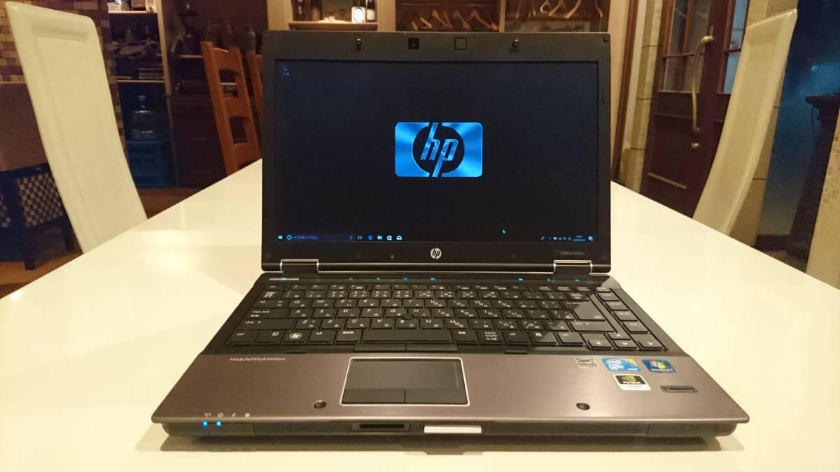 美品 上位モデル HP EliteBook 8440w Core i7-620M 4G 新SSD120GB Quadro FX 380M 1,600×900 office2016