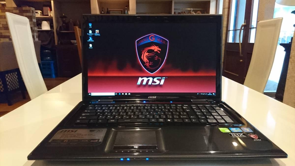 MSI 美品 大画面ゲーミング GE70 core i7-3630QM 8GB 新SSD240GB+HDD1TB GTX660M フルHD BD win10 office2016