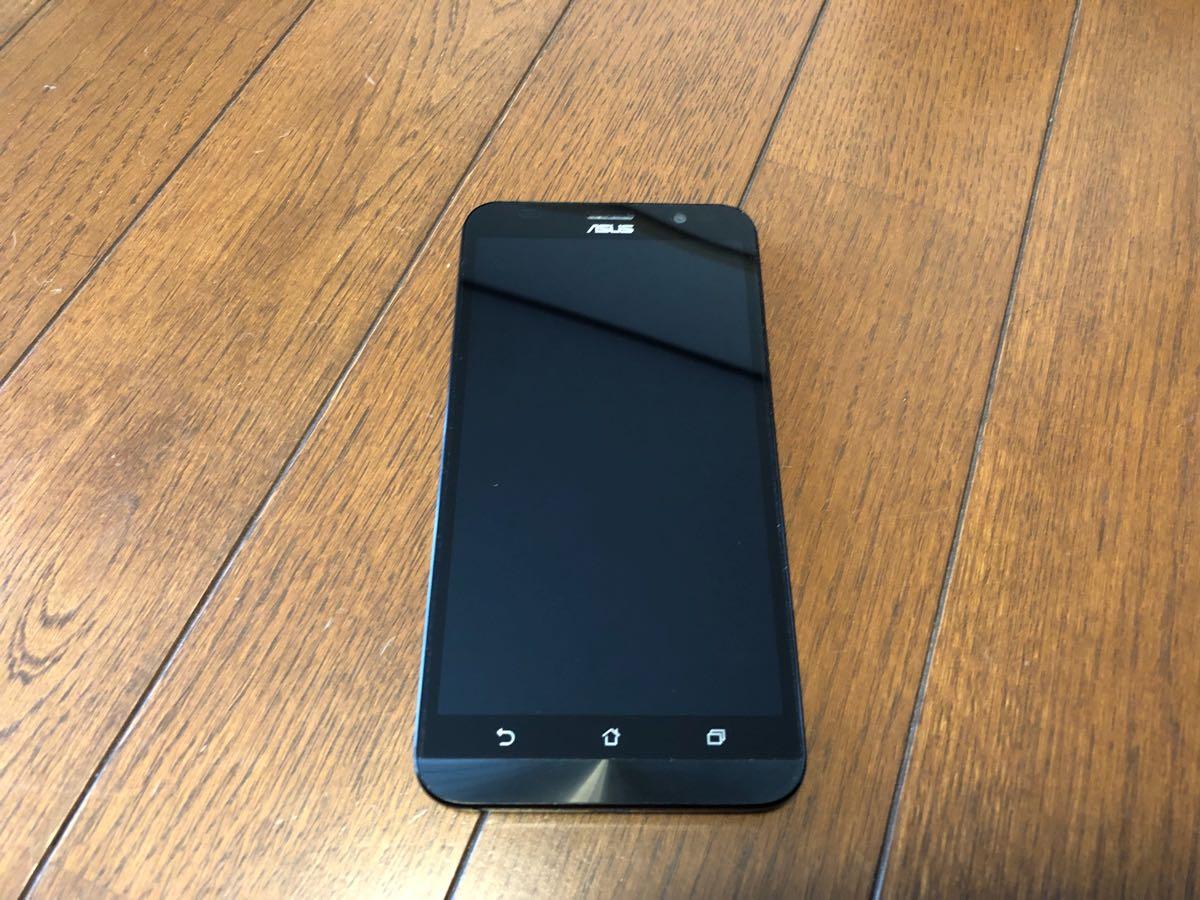【美品】ASUS SIMフリー スマートフォン ZenFone Go ブルー 中古