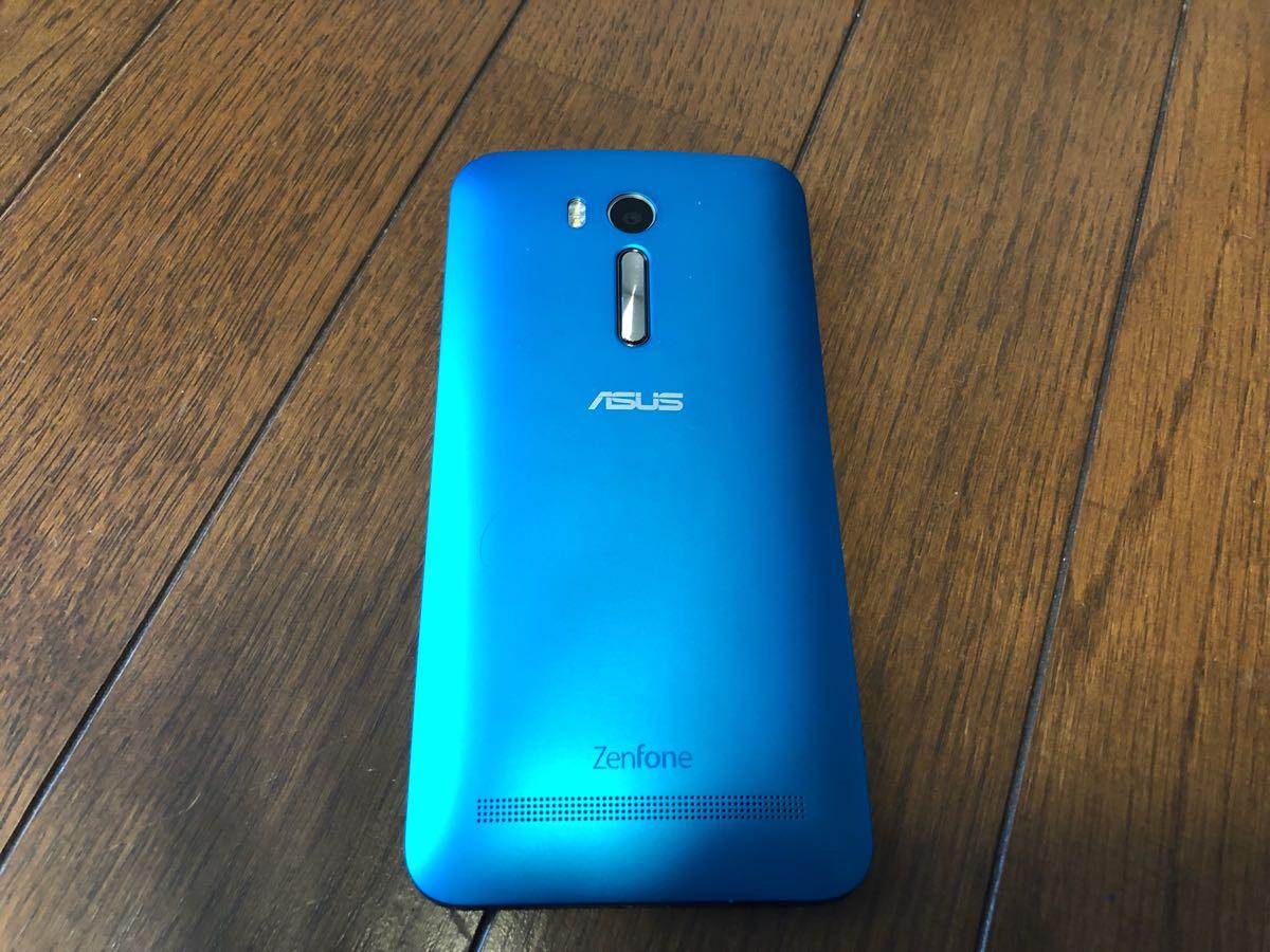 【美品】ASUS SIMフリー スマートフォン ZenFone Go ブルー 中古_画像2