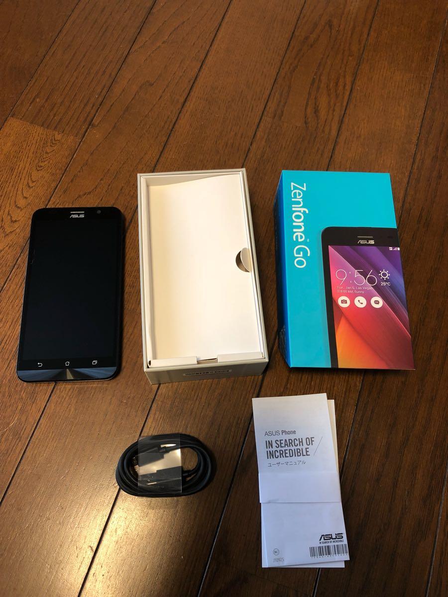 【美品】ASUS SIMフリー スマートフォン ZenFone Go ブルー 中古_画像3