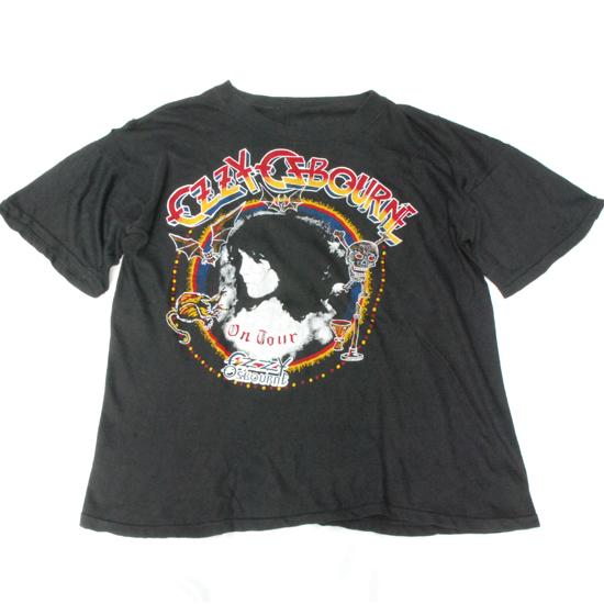 激レア■オジーオズボーン バンドTシャツ■80's OZZY OSBOURNE ヴィンテージ ロック メタル 80年代 アメリカ古着 バンT ブラックサバス