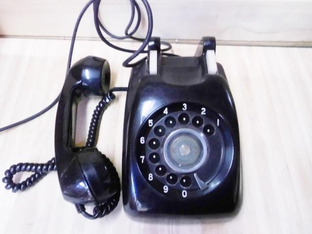 昭和レトロ 黒電話 中古 当時物 2_画像2