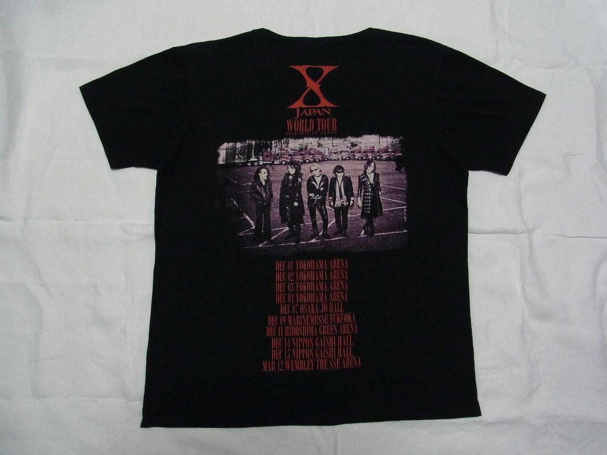 ★ X JAPAN WORLD TOUR 2015-2016 IN JAPAN Tシャツ sizeXL 黒 ★古着 YOSHIKI Toshl HIDE PATA HEATH SUGIZO ライブ コンサート グッズ