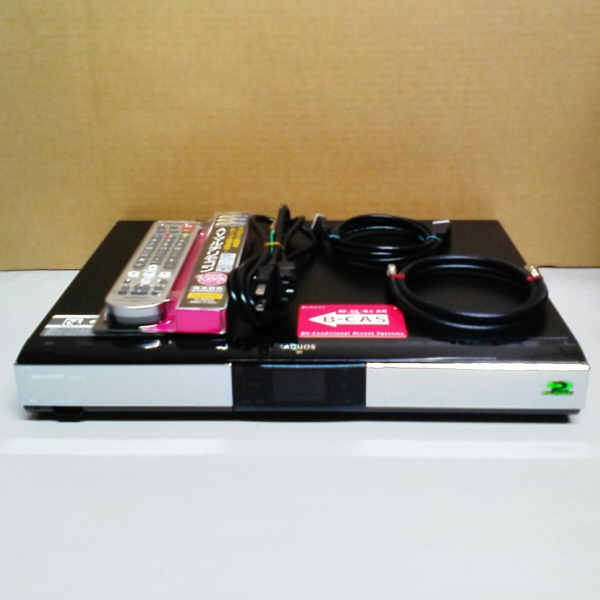 すぐに使えるセット!SHARP ブルーレイレコーダー AQUOS BD-HDW55 [W録画/500GB]._画像2