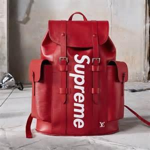 SUPREME x Louis Vuitton  コラボ 赤 バックパック正規店購入 新品 付属品あり
