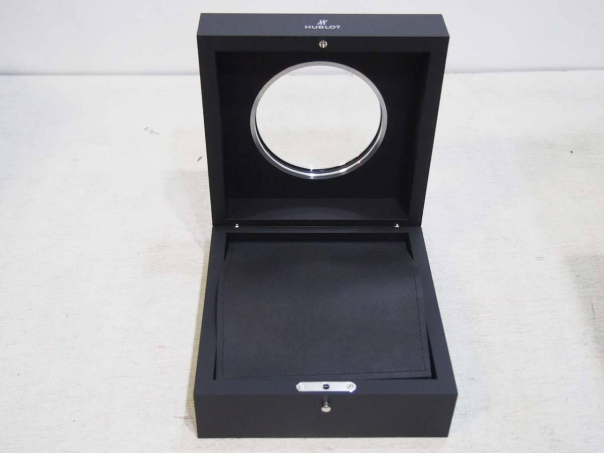 0228-11★HUBLOT ウブロ 腕時計ケース 箱入 黒 空箱_画像4