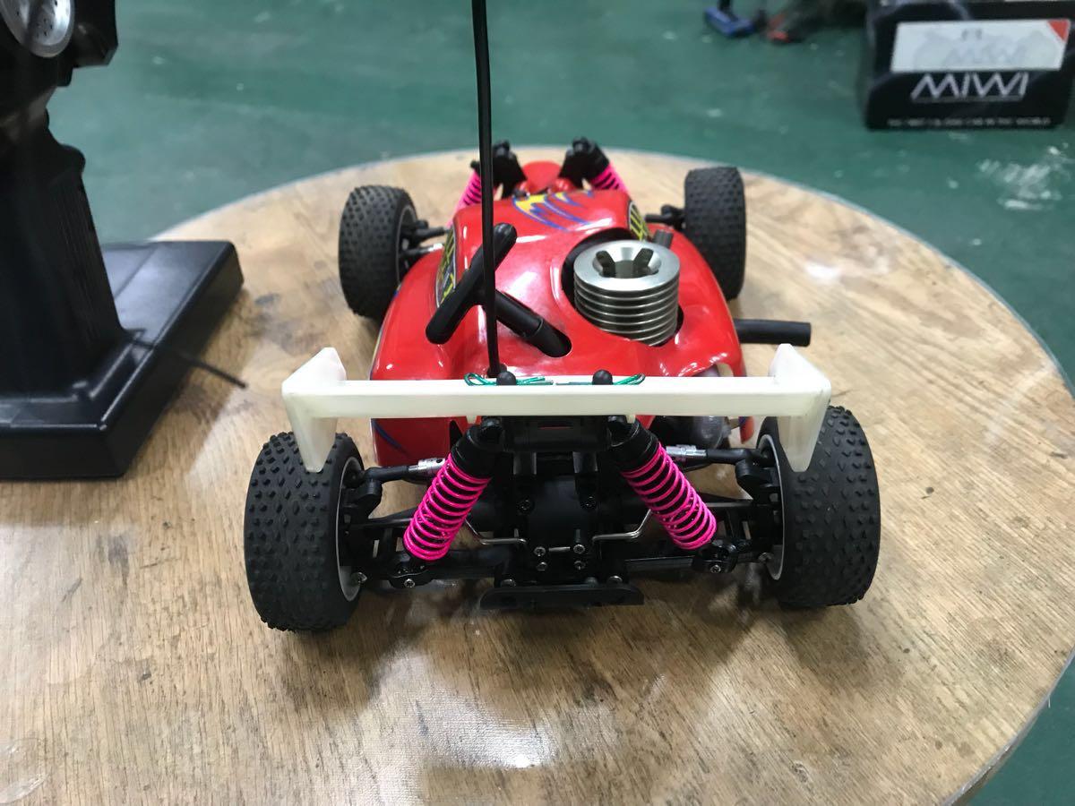 MIWI 1/16スケール4WDエンジンRCカー動作確認済み一応ジャンク_画像3