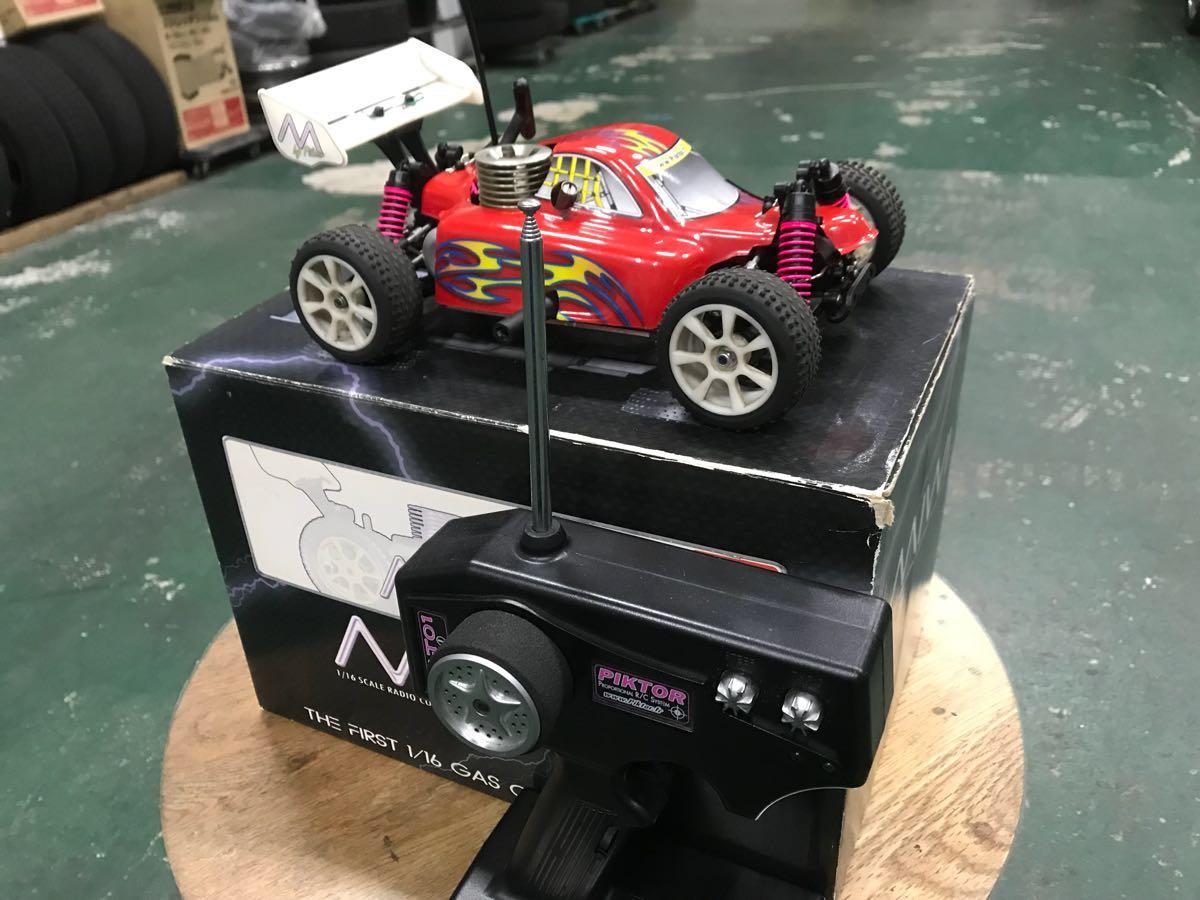 MIWI 1/16スケール4WDエンジンRCカー動作確認済み一応ジャンク