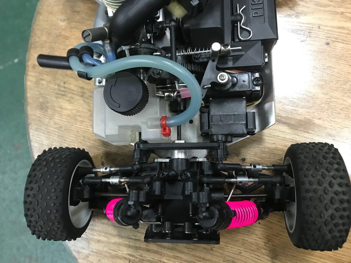 MIWI 1/16スケール4WDエンジンRCカー動作確認済み一応ジャンク_画像6
