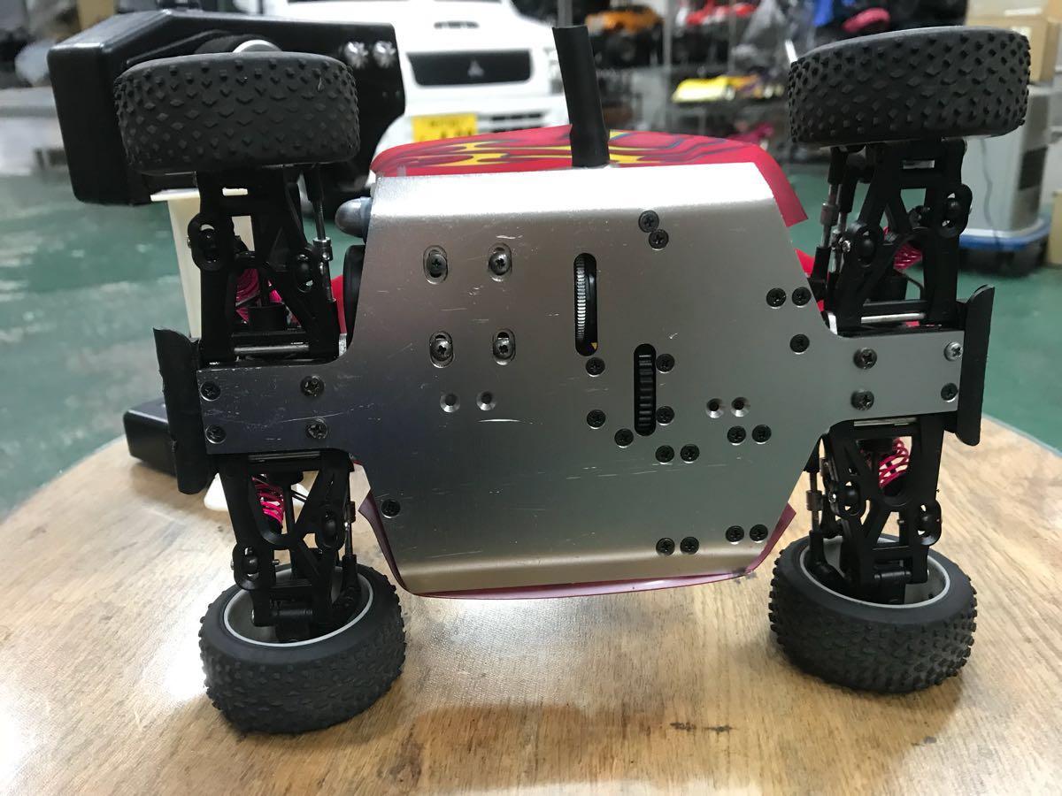MIWI 1/16スケール4WDエンジンRCカー動作確認済み一応ジャンク_画像4